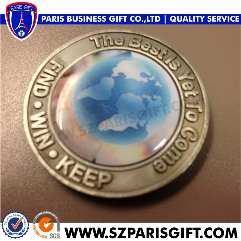 Top Quality Of Metal Enamel Gold Challenge Coin