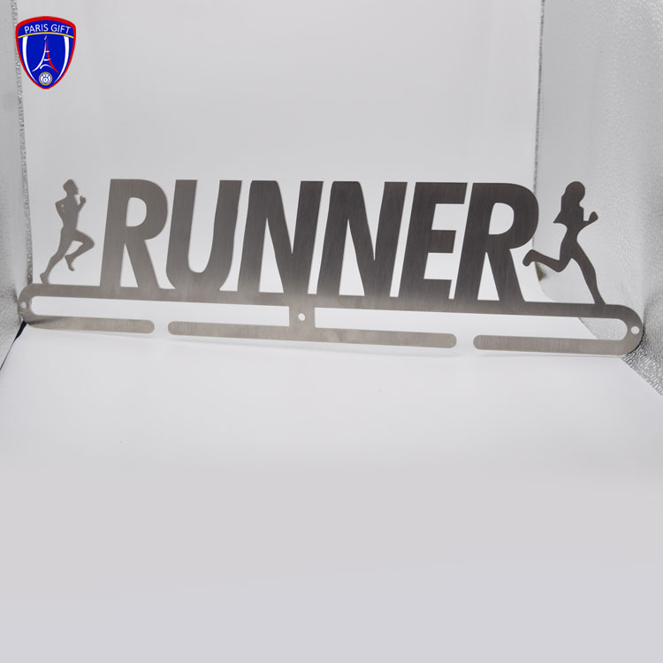 RUNNER stainless steel wire drawing process medal hanger