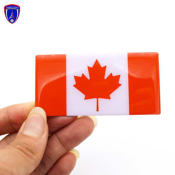 Canada flag metal base plate for hotel leather menu