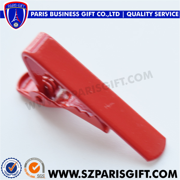 Red Mini Tie Bar Tie Pin 1 Inch Tie Clips For Men