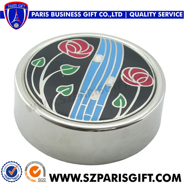 Silver Paper Weight With Logo
